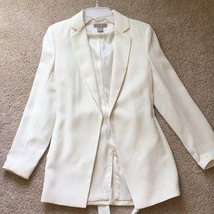 H&M ivory blazer with tie waist.